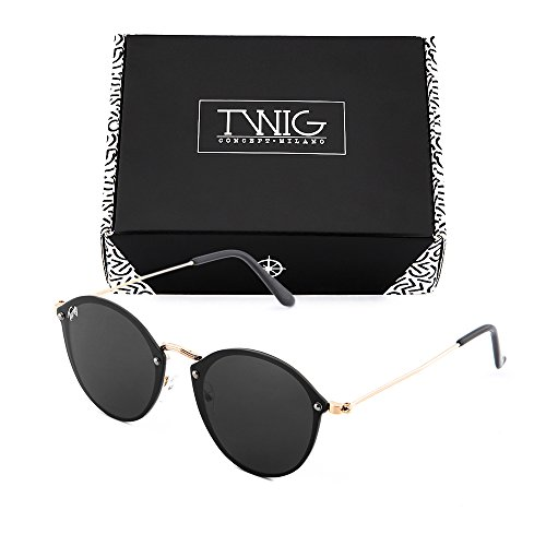 TWIG Gafas espejo Negro sol de mujer degradadas Bronce FRIDA xHqHRPw