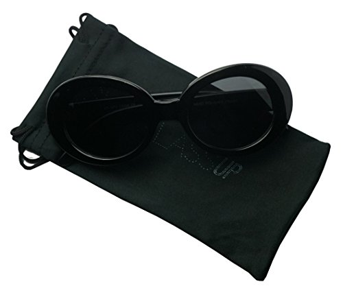 Original Classic Dark Oval Lens Kurt Cobain Inspired Nirvana Bold Trending Sunglasses (Black | Black, - Sunglasses Mens Oval