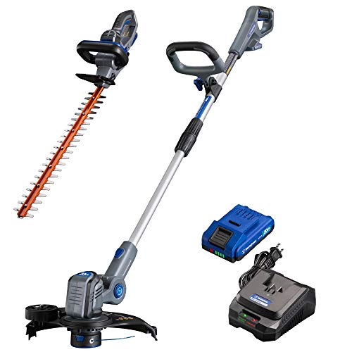 Westinghouse Cordless Weed Wacker/Edger and Hedge Trimmer, 2.0 Ah Battery and Rapid Charger Included