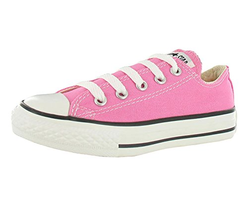 Converse Clothing & Apparel Chuck Taylor All Star Low Top Kids Sneaker, Pink, 34]()