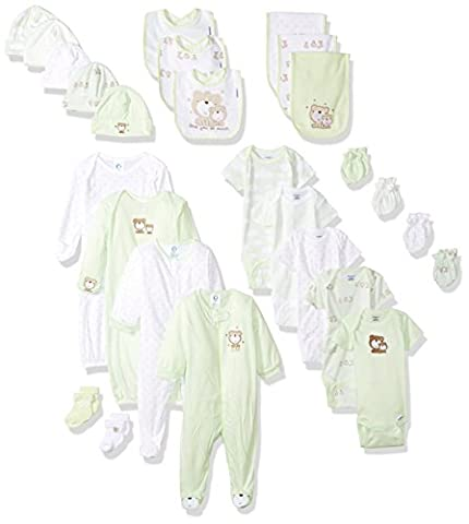 Gerber Baby 26 Piece Essentials Gift Set, Teddy, 0-3 Months - Gerber Toddler Bib