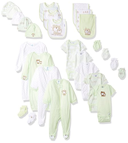 Gerber Baby 26-Piece Essentials Gift Set, Teddy Bear, Newborn ()