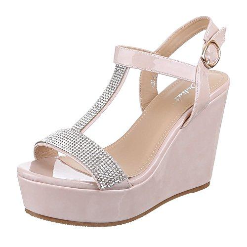 Ital-Design - Sandalias / Sandalias Mujer Rosa - rosa palo/beige