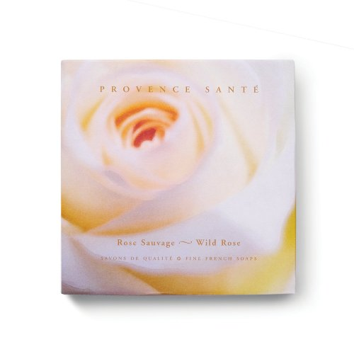 Provence Sante PS Gift Soap Wild Rose, 2.7oz 4 Bar Gift Box (Soap Sandalwood French)
