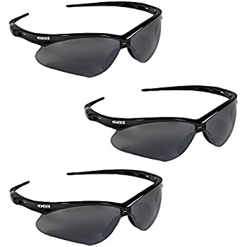 80a9878ebb36 3 PAIR JACKSON NEMESIS 3000356 SAFETY GLASSES BLACK SMOKE MIRROR LENS GRAY