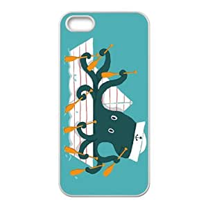 iPhone 5 5s Cell Phone Case White ROW, ROW, ROW YOUR BOAT LSO7739751