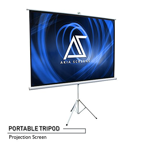 "Projection Tripod Elite (Akia Screens 100"" Portable Indoor/Outdoor Tripod Projector Screen, 100 inch Diagonal 4:3, 8K/4K Ultra HD 3D Ready Pull Up Collapsible Projection Screen with Tripod Stand, AK-T100SB)"