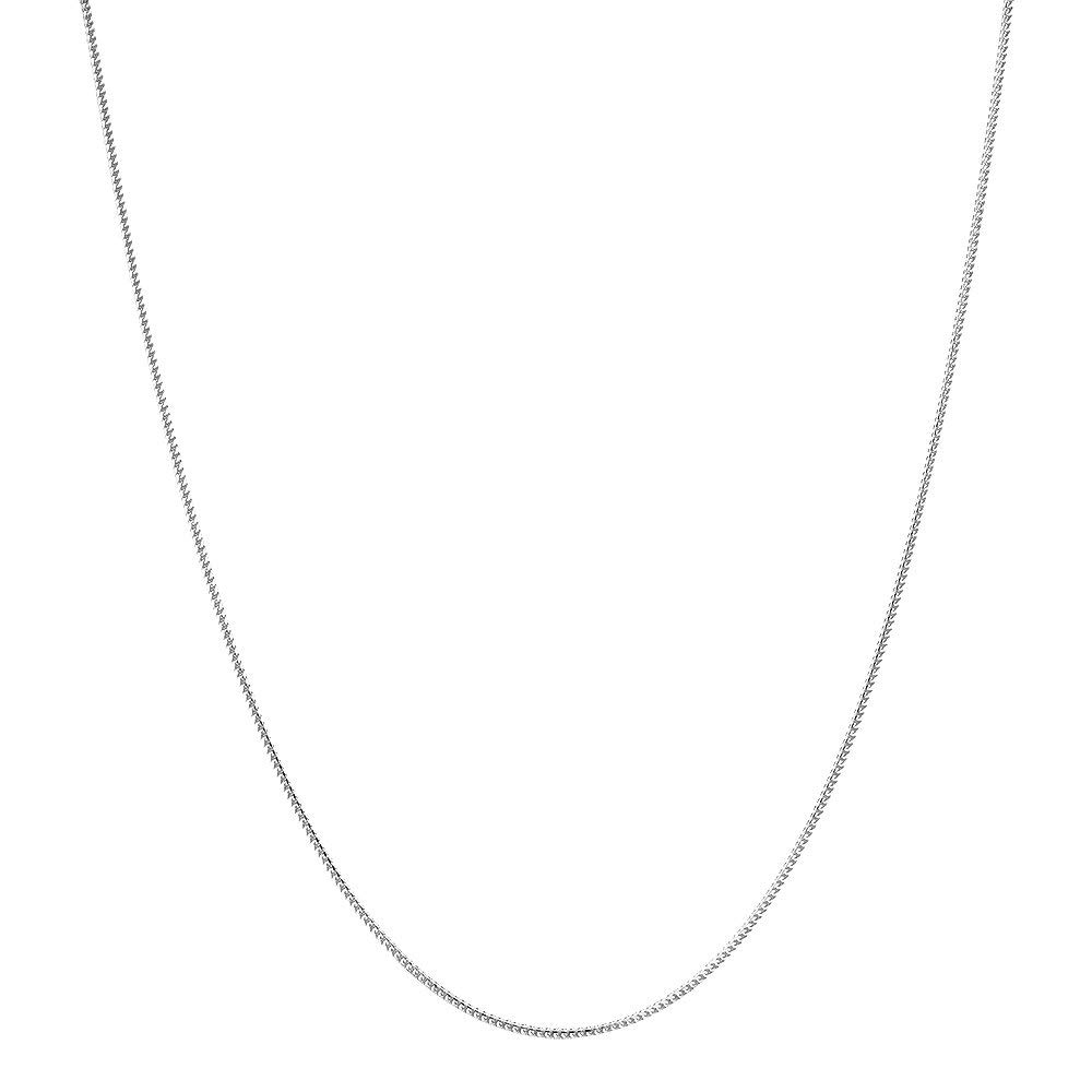 14K Yellow Or White Gold 1.2mm Shiny Diamond-Cut Classic Franco Chain Necklace for Pendants and Charms with Lobster-Claw Clasp (,16'', 18'', 20'' or 24 inch)