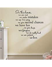 Home Decor In this house we are real Home Decal Family Vinyl Wall Sticker Quotes Lettering Words Living Room Backdrop Decorative Decor Wall Stickers for Living Room - 2724647530925