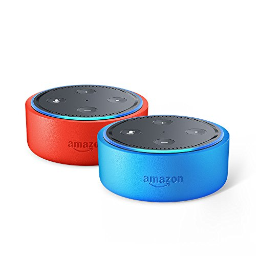 Echo Dot Kids Edition variety pack - blue/punch red kid-friendly case