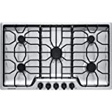 "gas cooktop 36 inch Frigidaire FFGC3612TS 36"" Gas Cooktop Stainless Steel"