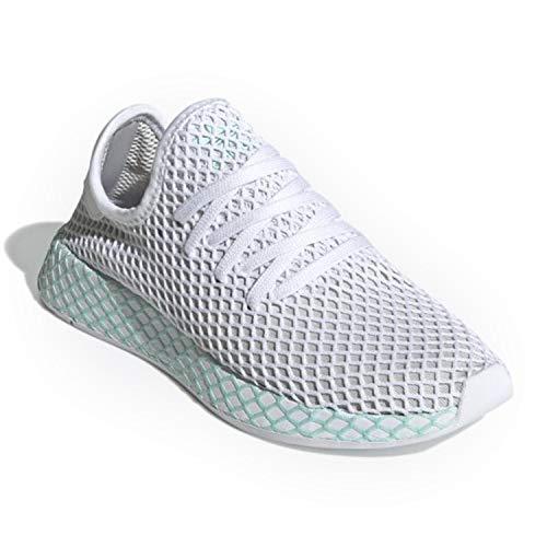 adidas Originals Deerupt Runner Shoe Women's (7.5 M US, Blue Tint/Ecru Tint/Active Purple)