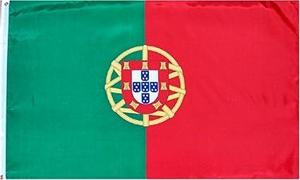 Bandera Nacional de Portugal de 152 cm x 91 cm