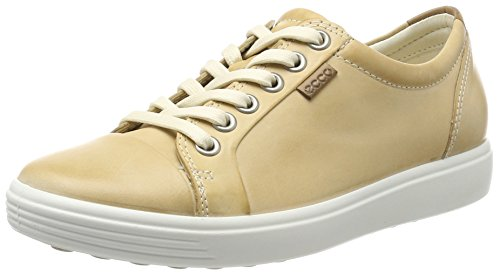 (Ecco  Womens Soft 7 Fashion Sneaker, Powder, 39 EU/8-8.5 M)