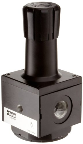 Parker P3NRA98BNG Regulator, Relieving Type, 2-125 psi Pressure Range, Gauge, 300 scfm, 1'' NPT by Parker
