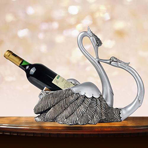 Best Gifts & Decor Wine Racks - Aimarn Swan Wine Rack-Creative Wine Retro