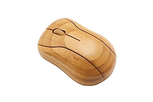 Sengu SG-MG95-N 2.4GHz Bamboo Wireless Optical Mouse Healthy Sweat-resistant