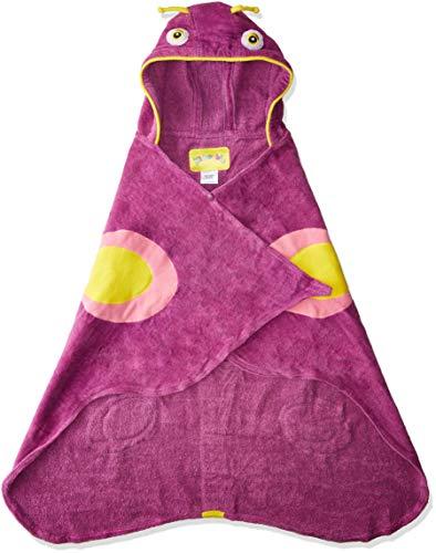 Kidorable Girls' Butterfly Towel, Purple, Small