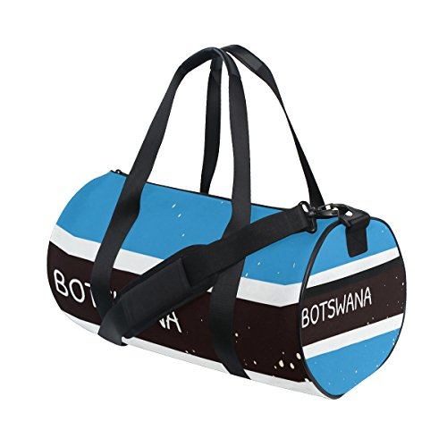 Distressed Botswana Flag Travel Duffel Shoulder Bag ,Sports Gym Fitness Bags by super3Dprinted