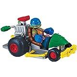 Turtles Patrol Buggy mit Leo Halbschalen Helden Fahrzeug und Figur