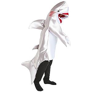 Toddler Unisex Blue Sea Creature Onesie Tipsy Elves Baby Shark Halloween Costume