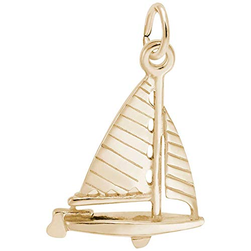 (Rembrandt Charms Sailboat Charm, 14K Yellow Gold)