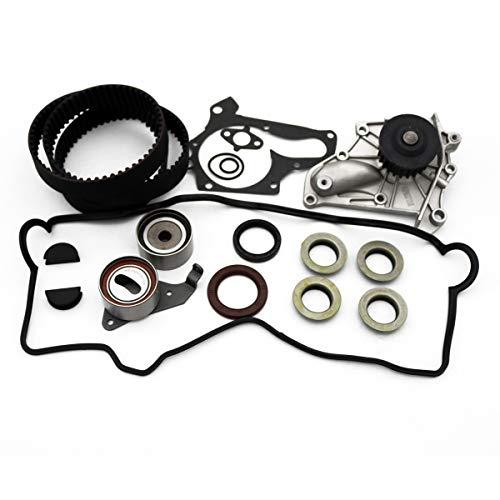 Timing Belt Water Pump Kit with Valve Cover Gasket Tensioner fit for 1987-2001 Toyota Camry, 1999-2001 Toyota Solara, 1996-2000 Toyota RAV4 2.0L 2.2L 3SFE 5SFE