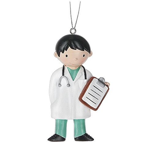 Midwest-CBK Boy Medical Doctor Christmas Ornament - Hospital Style Stockings