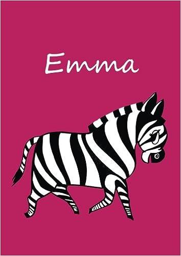 Notebook/diary/coloring book - Emma: DIN A4 - Zebra: Amazon.de ...