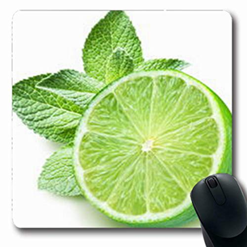 (Pandarllin Mousepads Leaf Lime Mint On Studio White Food Drink Melissa Oblong Shape 7.9 x 9.5 Inches Oblong Gaming Mouse Pad Non-Slip Rubber Mat)