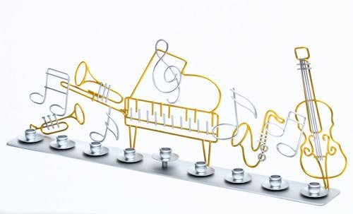 Metal Musical Menorah