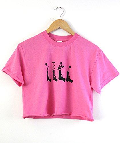 Era of Artists, LLC Flower Pistols Bright Pink Graphic Cropped Unisex ()