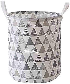 XLStore Large Folding Waterproof Canvas Laundry Storage Basket