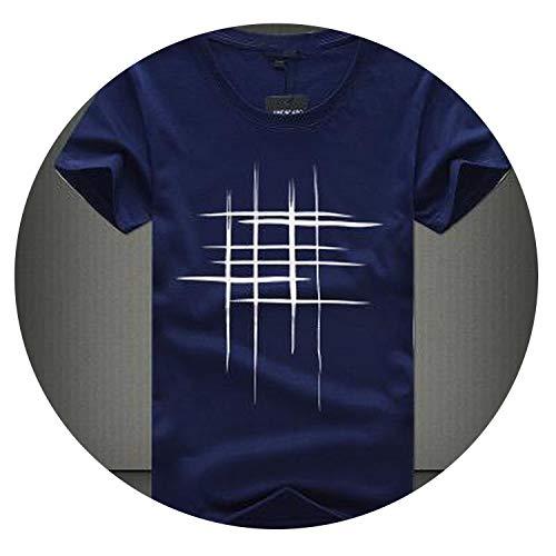 Clustor Creative Design line Cross Print Cotton Summer Style Short Sleeve ()