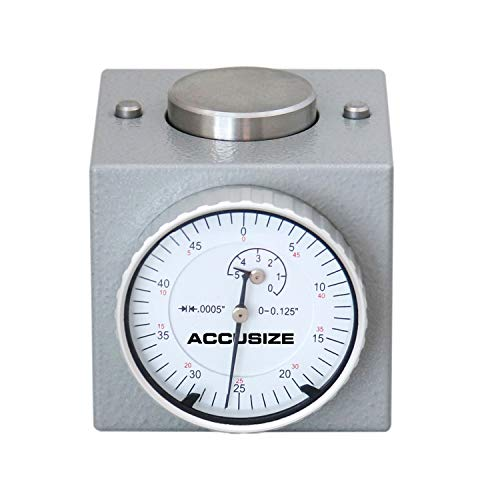 Accusize Industrial Tools Z Axis Zero Setting 0-0.125'' x 0.0005'', 2'' Height Magnetic, 2124-2001