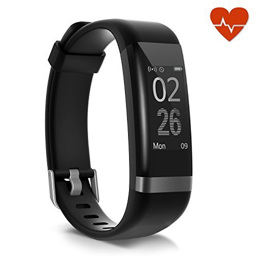 Fitness Tracker, MoreFit Slim Touch Screen Activity Health Tracker Wearable Pedometer Smart Wristband (Dare HR)