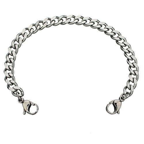 Diamond Cut Stainless Steel Squid Bracelet (M ()