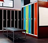 AdirOffice Large Steel Metal Storage School Locker- Single Tier Free Standing Storage Compartment - Secure Colorful Spacious Organizer Perfect for Academic and Commercial Use
