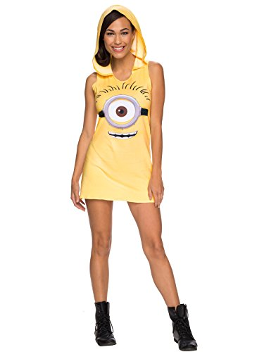 Rubie's Women's Minion Hooded Tank Dress, Yellow, Small