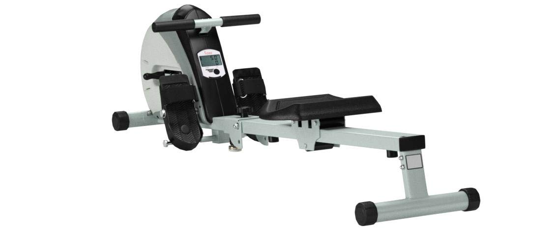 Sunny Health & Fitness Rowing Machine Rower Ergometer with Durable Elastic Cord, Digital Monitor, Inclined Slide Rail and Foldable -  SF-RW5606 by Sunny Health & Fitness (Image #10)