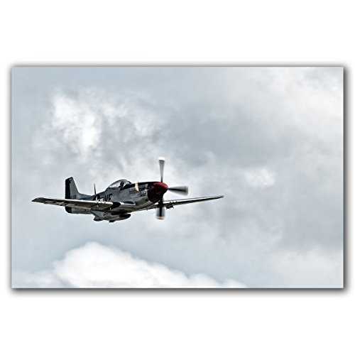 Vintage Wwii P 51 Mustang Fighter Plane Original Art Photograph  Printed On Aluminum  Ready To Hang