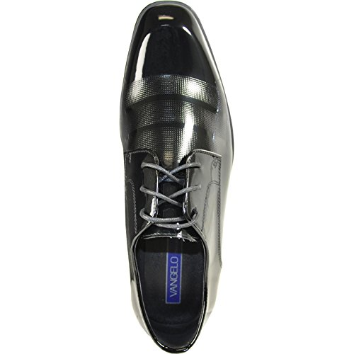 Grey outlet store online VANGELO Men Dress Shoe Rockefeller Oxford Formal Tuxedo Black Patent - Wide Width Available Black Patent really for sale cheap discount authentic official site sale online 9HuR3pLfW9