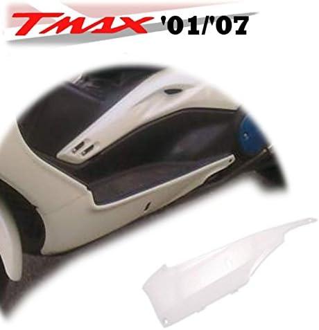 orig 77380002H carena plastica fianchetto inferiore sotto pedana sinistro colore binaco perla compatibile con yamaha t-max 500 anno dal 2001 al 2007 |rif Yamaha 5GJ2171L00 one by Camamoto cod