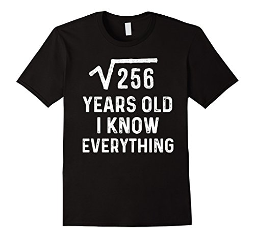 Mens Square Root 16th Birthday Gift 16 Years Old Math Tshirt Medium (Ideas For 16th Birthday Party)