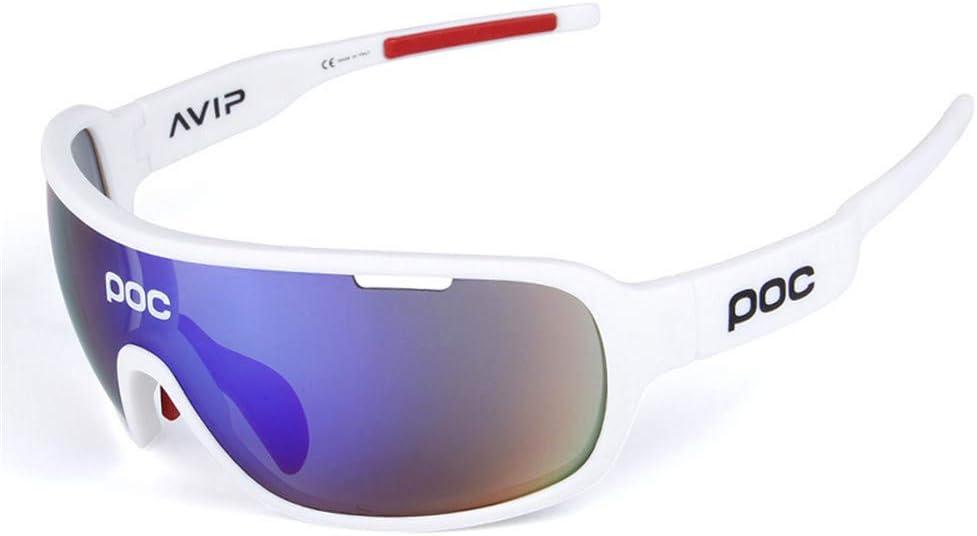 Hombres Protecci/ón Polarizada UV400 Conducci/ón Ci Gafas de ciclismo POC opcionales multicolores Espejos de ciclismo para exteriores con luz polarizada Gafas de ciclismo para correr Color : Azul