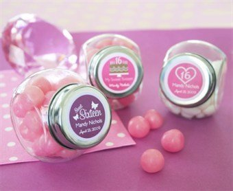 Amazon.com: Sweet Sixteen (or 15) Candy Jars - Baby Shower Gifts ...