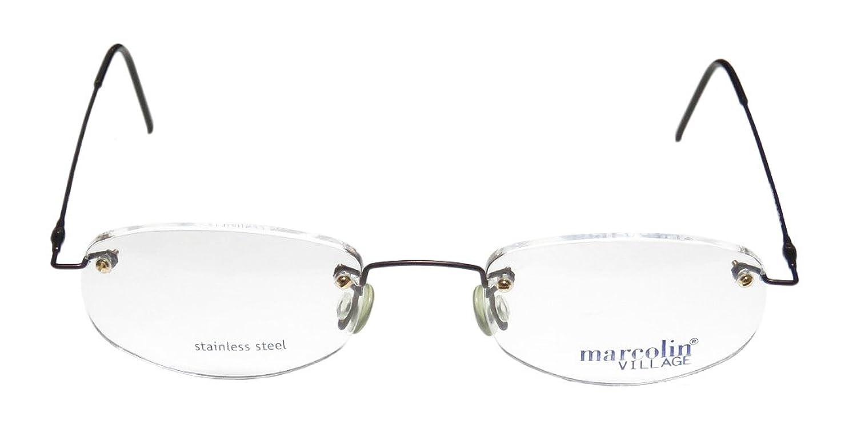 Marcolin Village 57 Mens/Womens Rx-able Demo Lens Designer Rimless Eyeglasses/Eyewear