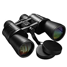 Binoculars, [Upgraded Version] Pictek 10 x 50 Binocular for Bird Watching Zoom Wide Angle Telescope Splashproof Binoculars with Neck Strap and Carrying Bag for Travelling, Sightseeing, Hunting.etc