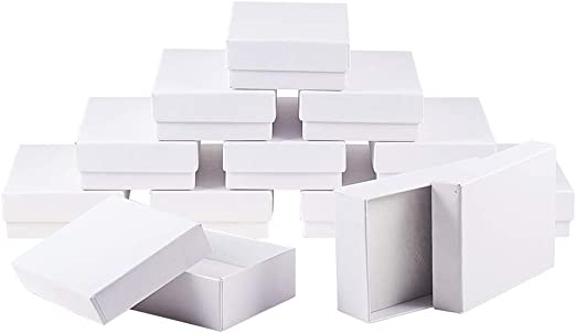 NBEADS 60 pcs Rectángulo Blanco Joyas Cajas de cartón Caja de ...