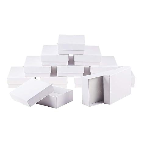 NBEADS 60 pcs Rectángulo Blanco Joyas Cajas de cartón Caja ...